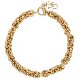 J.W. Anderson Gold Pendant Curb Choker JY0041-OT0003