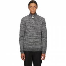 J.W. Anderson Grey Roll Neck Half-Zip Sweater KW0342-YN0053