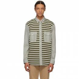 J.W. Anderson Green Patchwork Stripe Shirt SH0049-PG0293