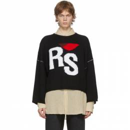 Raf Simons Black Oversized RS Sweater 202-843