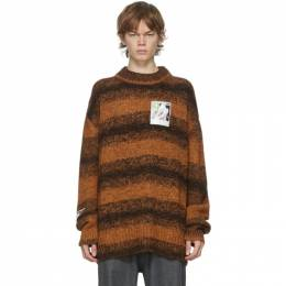 Raf Simons Brown Marl Patch Sweater 202-839