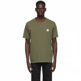 Nudie Jeans Green Uno NJCO Circle T-Shirt 131680