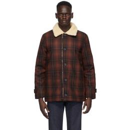 Nudie Jeans Red Mangan Lumber Jacket 160692