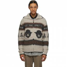 Phipps Beige and Brown Smokey Bear Cardigan PHFW20-X03