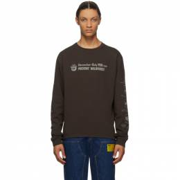 Phipps Brown Smokey Fire Safety Long Sleeve T-Shirt PHFW20-N03
