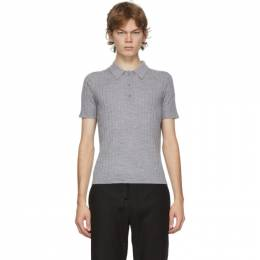 Dion Lee Grey Wool Polo A7370P20