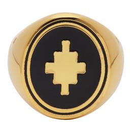 Marcelo Burlon County Of Milan Gold Cross Ring CMOC006E20MET0017610