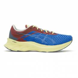 Affix Blue and Red Asics Edition Novablast Sneakers 1021A467.400