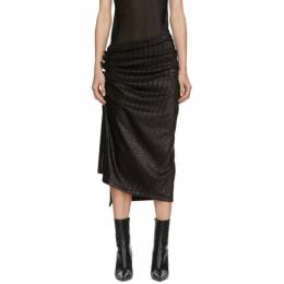 Paco Rabanne Black Draped Skirt 20AJJU007VI0261.