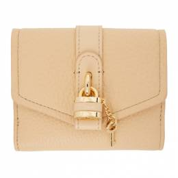 Chloe Beige Aby Square Wallet CHC19WP311B71