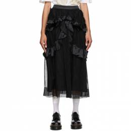 Simone Rocha Black Tulle Skeleton Skirt 3007 0069 Tulle