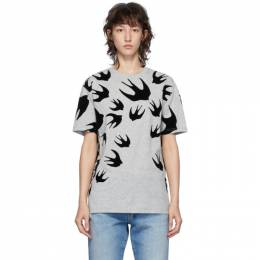 MCQ by Alexander McQueen Grey McQ Swallow T-Shirt 318978RLT86