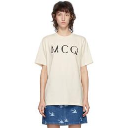 MCQ by Alexander McQueen Off-White McQ Swallow Logo T-Shirt 583304RPR02