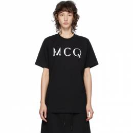 MCQ by Alexander McQueen Black McQ Swallow Logo T-Shirt 583304RPR02