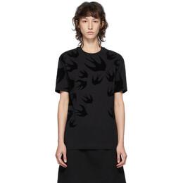 MCQ by Alexander McQueen Black McQ Swallow T-Shirt 318978RLT73