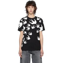 MCQ by Alexander McQueen Black McQ Swallow T-Shirt 318978RLT71