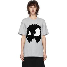MCQ by Alexander McQueen Grey McQ Swallow Chester Monster T-Shirt 583304RPR15