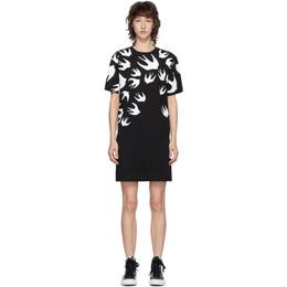 MCQ by Alexander McQueen Black McQ Swallow T-Shirt Dress 492158RLT71