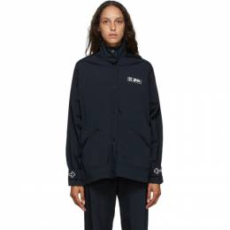 Off-White Black Nylon Track Coat OWEA156E20FAB0011001