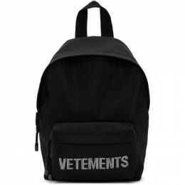 Vetements Black Strass Backpack UAH21BA255