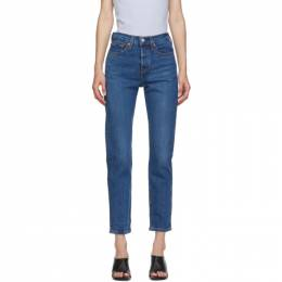 Levi's Blue Wedgie Fit Ankle Jeans 22861-0058
