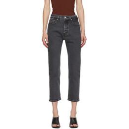 Levi's Black 501 Original Cropped Jeans 36200-0111