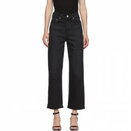 Levi's Black Ribcage Straight Ankle Jeans 72693-0037