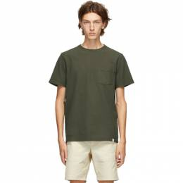 Norse Projects Green Niels Pigment Dye T-Shirt N01-0503