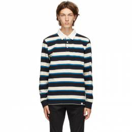 Norse Projects Blue and Off-White Ruben Compact Polo N10-0171