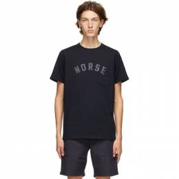 Norse Projects Navy Niels Ivy Logo T-Shirt N01-0514