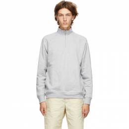 Norse Projects Grey Alfred Zip-Up Sweater N20-1239
