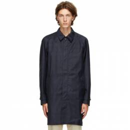 Norse Projects Navy Svalbard 3 Layer Coat N55-0502