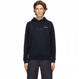 Norse Projects Navy Vagn Logo Hoodie N20-1246