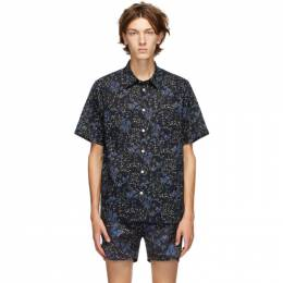 Norse Projects Navy Oscar Print Shirt N40-0528