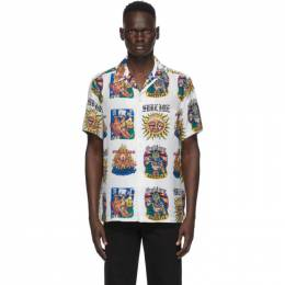 Wacko Maria White Sublime Edition Hawaiian Album Print Shirt SUBLIME-WM-HI02