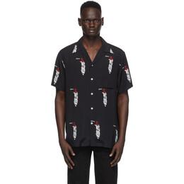 Wacko Maria Black and White Sublime Edition Hawaiian Shirt SUBLIME-WM-HI03