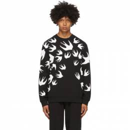 MCQ by Alexander McQueen Black Swallows Sweatshirt 545415RLT72