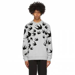 MCQ by Alexander McQueen Grey Swallows Sweatshirt 545415RLT87