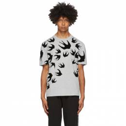 MCQ by Alexander McQueen Grey Swallows T-Shirt 291571RLT86