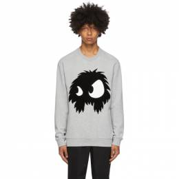 MCQ by Alexander McQueen Grey Chester Monster Sweatshirt 545415RPR14