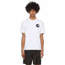MCQ by Alexander McQueen White Monster Badge T-Shirt 291571RNH36