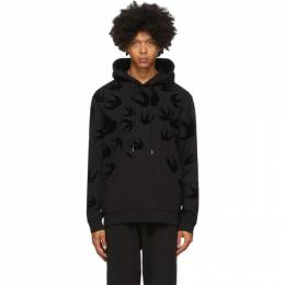 MCQ by Alexander McQueen Black Swallows Hoodie 545412RLT74