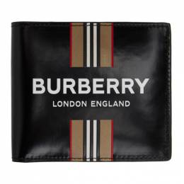 Burberry Black Icon Stripe International Wallet 8030525