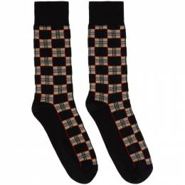 Burberry Black Check Gentleman Socks 8030836