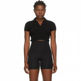 Live The Process Black Seamless Crop Polo Top 850