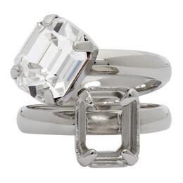 Mm6 Maison Margiela Silver Missing Stone Ring S52UQ0045 S12721