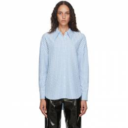 Tibi Blue and White Gingham Relaxed Shirt P220VI7380