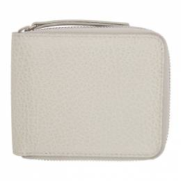 Maison Margiela Off-White Zip-Around Wallet S56UI0111 P0399
