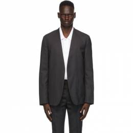 Maison Margiela Grey Wool Collarless Blazer S50BN0447 S44330
