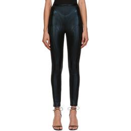 Mugler Black Embossed Leggings 20W3PA0260673